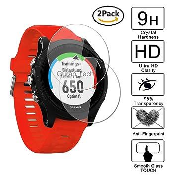 [2 Pack] Guran® Protector de Pantalla Vidrio Cristal Templado Para Garmin Forerunner 935 Smartwatch Cristal Vidrio Templado Film