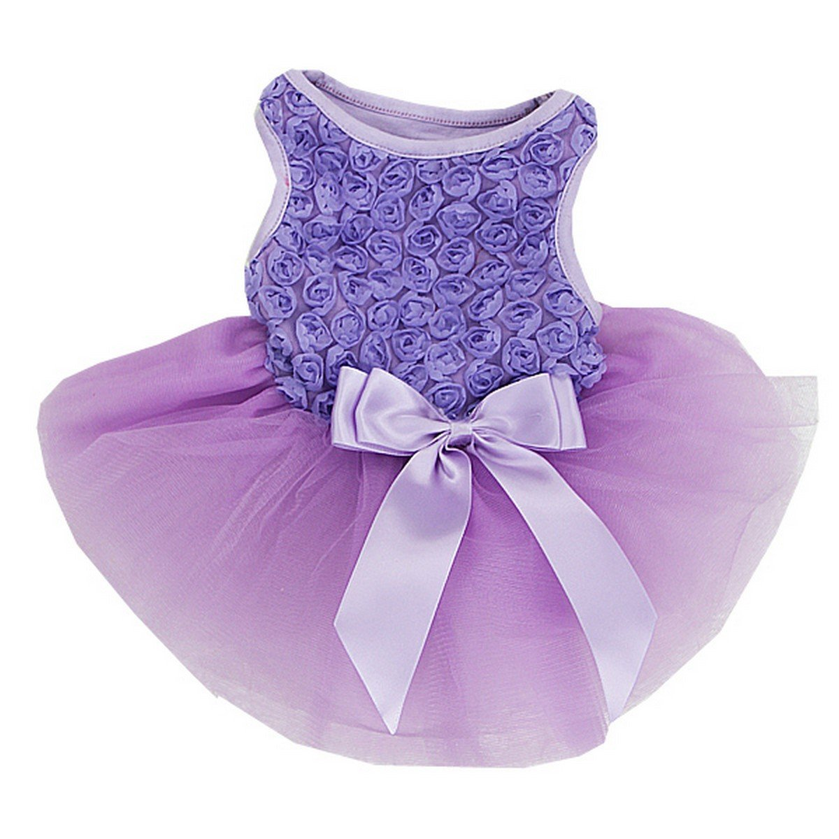 L pinkttes Dog Dress Dog Dress Large Lavender