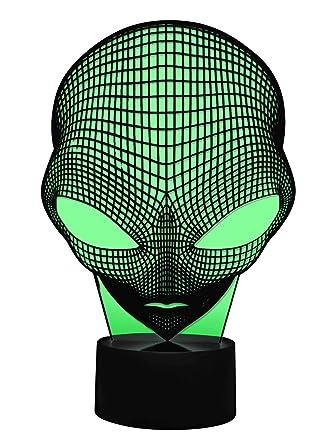 3d AlienGrau Led Originelle Lámpara zoneAmazon esIluminación wOiuZTlkPX