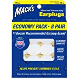 Mack's Pillow Soft Silicone Earplugs – 8 Pair, Economy Pack – The Original Moldable Silicone Putty Ear Plugs for…