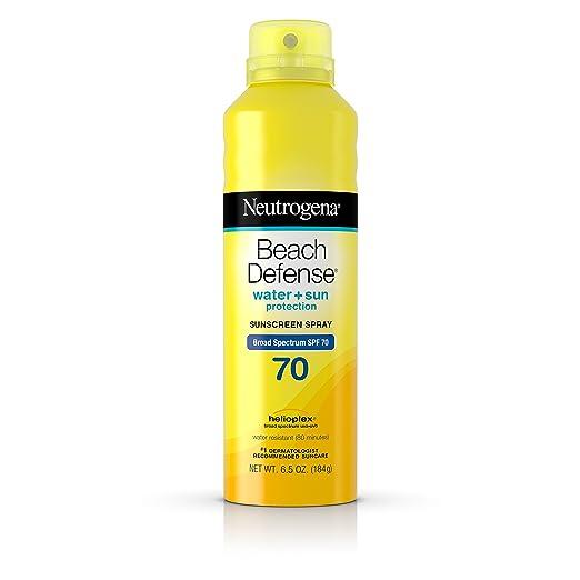 Neutrogena Beach Defense Body Spray Sunscreen Broad Spectrum Spf 70, 6.5 Oz.