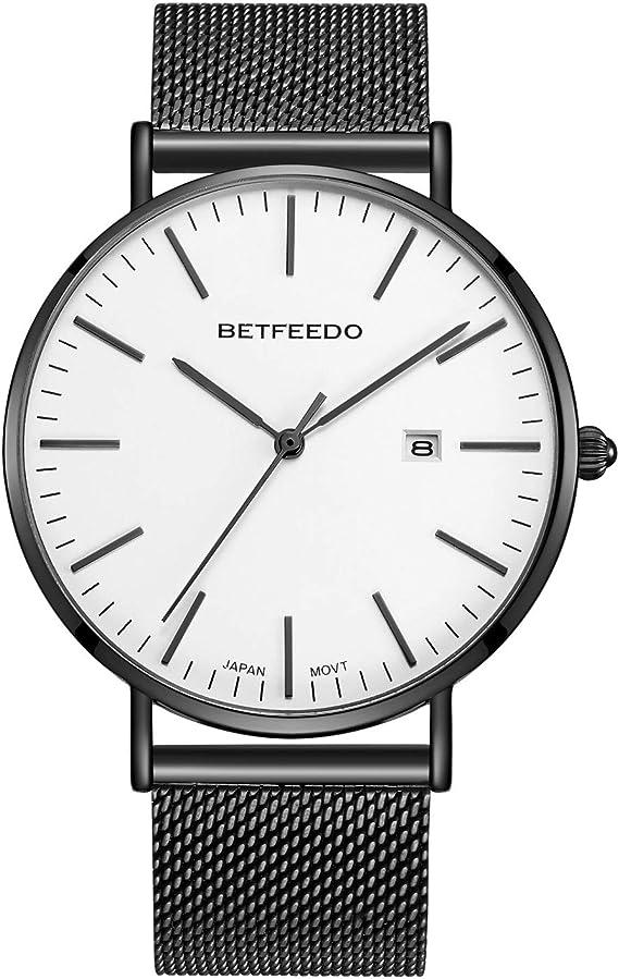 Amazon.com: BETFEEDO - Reloj de pulsera analógico para ...
