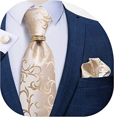 Necktie Set Pocket Square and Cuff Links Necktie