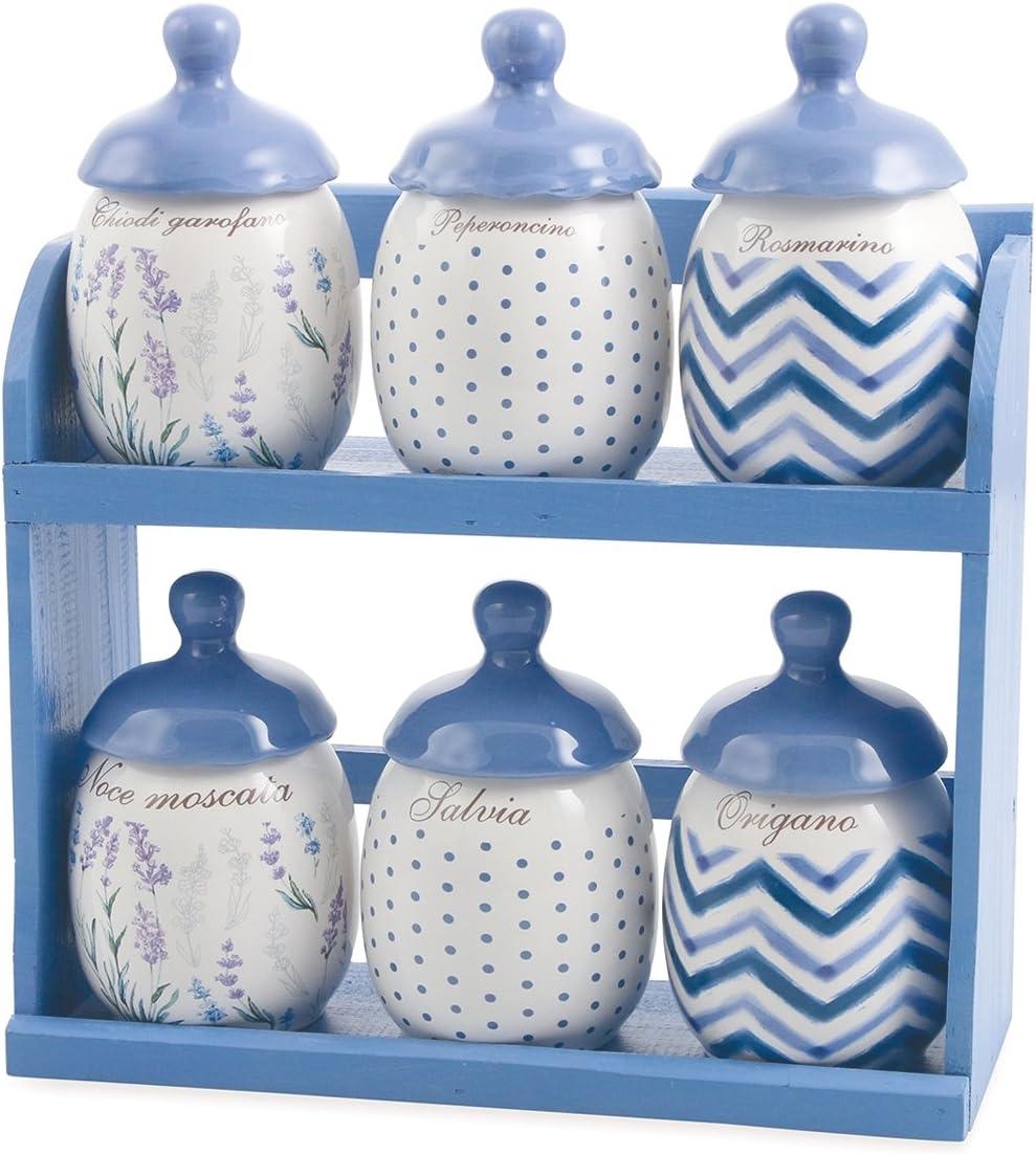 Galileo Casa Lavanda Biscottiera Ceramica Lilla