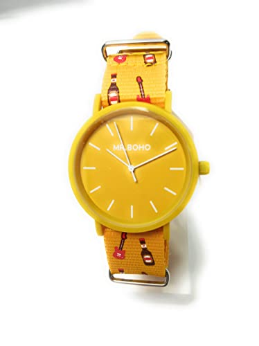 Reloj Mr. Boho Unisex Color Amarillo Serie Mahou.21-37C-OO: Amazon.es: Relojes