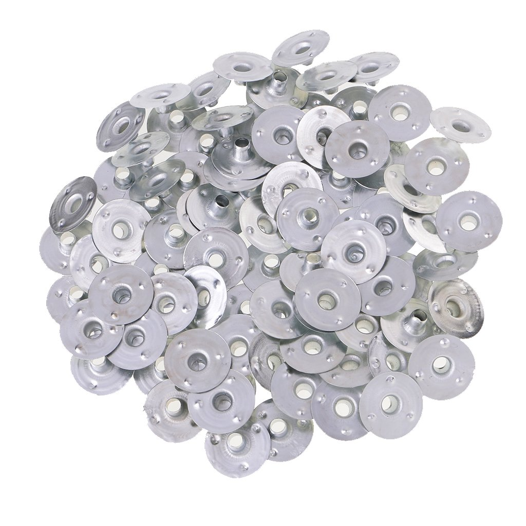 MonkeyJack 200 Pieces 6 Sizes Candle Making//Tea Lights Self Centering Votive Metal Candle Wick Sustainers//Tabs//Base DIY Supplie 12.5x2.5mm