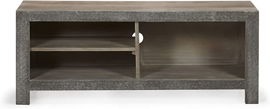 Alinea Jaipur Meuble Tv En Manguier Massif Et Encadrement Aluminium Martele Amazon Fr Cuisine Maison
