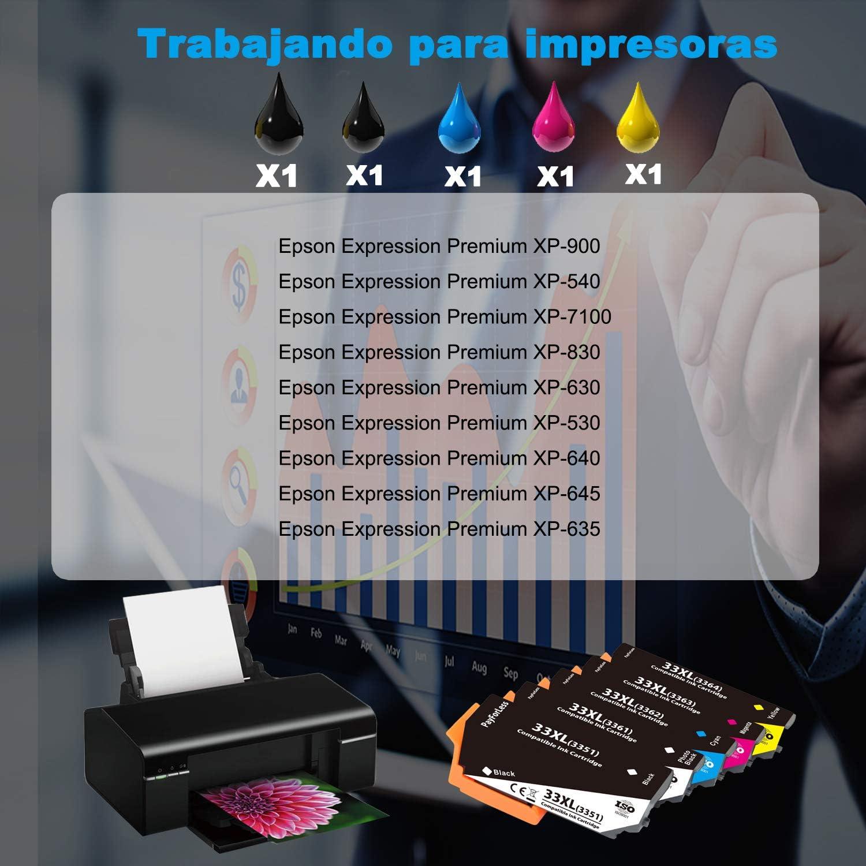 PayForLess 33XL Cartuchos de Tinta Compatible para Epson ...