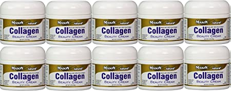 Collagen Beauty Cream Made with 100 Pure Collagen Promotes Tight Skin Enhances Skin Firmness 2 OZ. Jar PACK of 10
