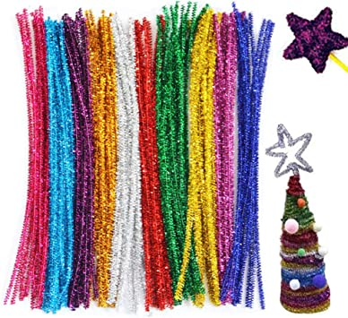 300Pcs 10 Colors Pipe Cleaners DIY Art Craft Decorations Chenille Stems A 300Pcs