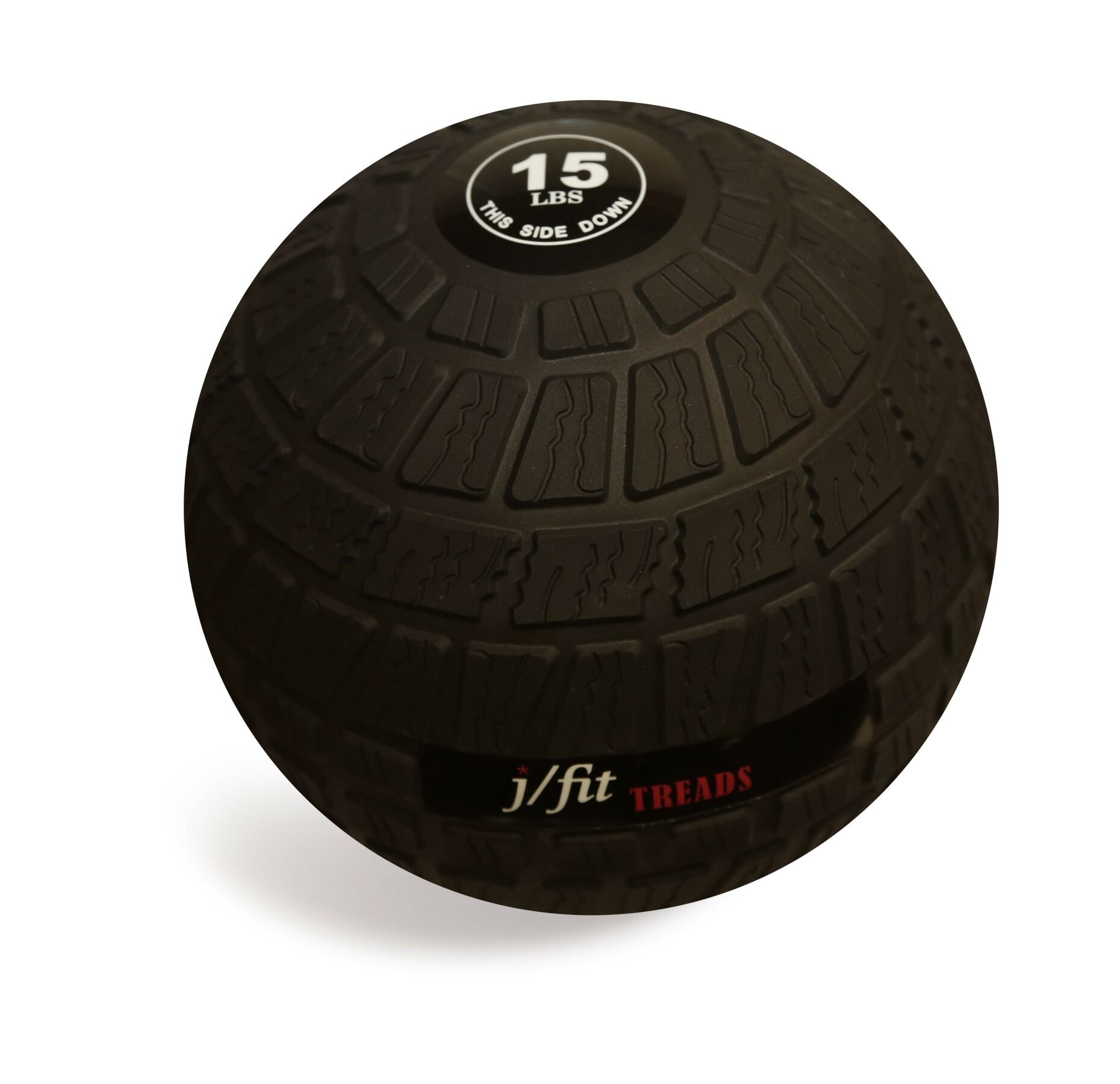 j/fit Dead Weight Slam Ball – Classic or Treads Option, Strength & Conditioning Cross Training WODs, Plyometric & Core Training, Squats, Lunges, Wall Exercises (10, 15, 20, 25, 30, 35, 40, 45 & 50lbs)