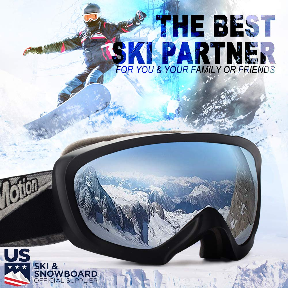 2b88709d6e39 See all customer reviews · JK MOTION Ski Goggles-Anti Fog Snow Goggles-100%  UV Protection
