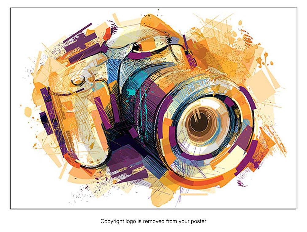 Ilustración cámara de impresión de póster Arte, color, Talla A2 ...