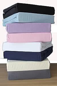 Dudu N Girlie color blanco S/ábana bajera de algod/ón 40 x 90 cm, 2 unidades