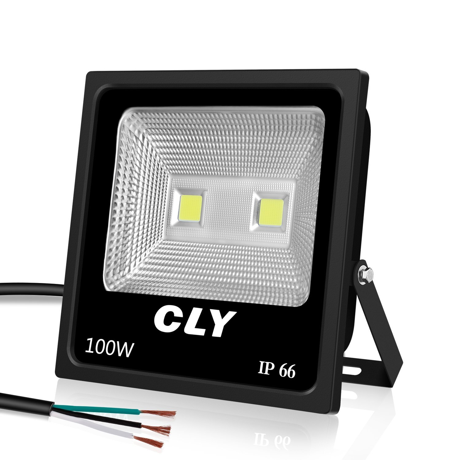 100W LED Flood Light Super Bright Outdoor Security Light, IP66 Waterproof, 10500LM, 6000K Daylight White for Garage, Garden, Lawn and Yard