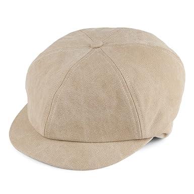 Failsworth Hats Washed Cotton Baker Boy Cap - Stone 57  Amazon.co.uk ... 49e1e48ddb4