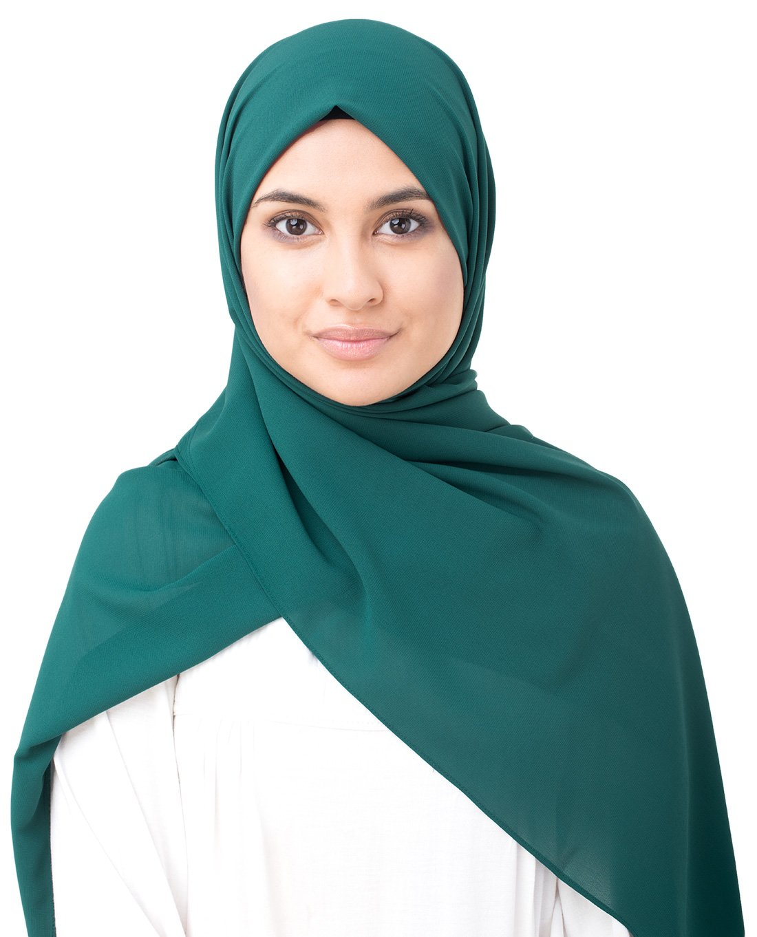 InEssence June Bug Green Poly Georgette Scarf Women Girls Wrap Large Size Hijab