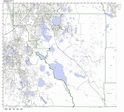 Amazon Com Osceola County Florida Fl Zip Code Map Not Laminated