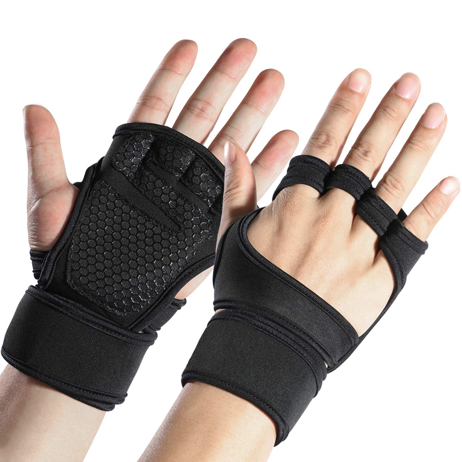 Men's Leather Gym Workout Gloves