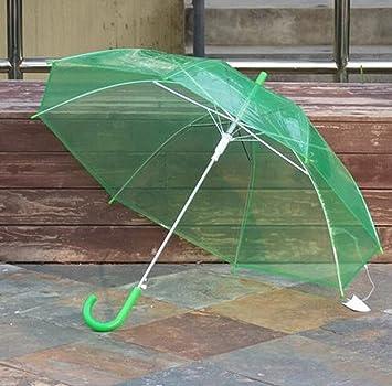 paraguas Hombres y mujeres paraguas transparente mango largo automático paraguas transparente de la estrella de Umbrella