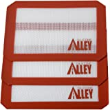 Silicone Alley, 3 Non-stick Silicone Mat Pad, Small Rectangle 5 X 4 Inch, Red