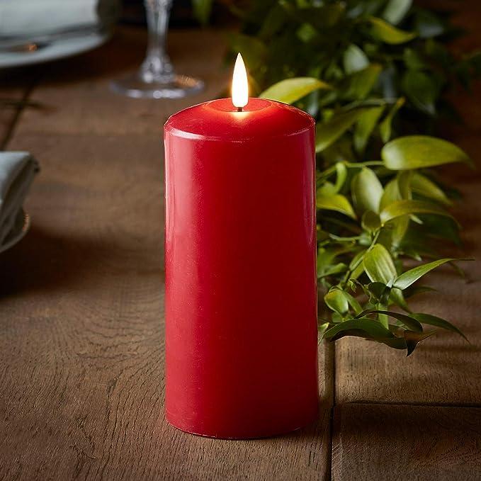 Lot de 8 truglow ™ Dîner conique bougies cire Batterie DEL Flameless Remote Lights 4fun