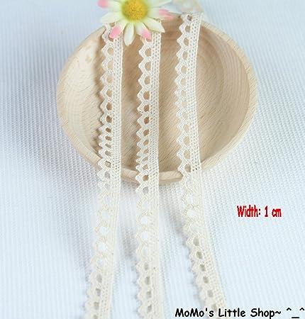 Vintage Style BLACK 100/% Cotton Crochet Picot-Edged Lace Trim 1 cm 5 Metres