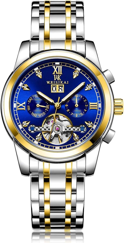 Orologi per gli uomini Orologi da uomo Orologio meccanico meccanico da lavoro a carica automatica impermeabile XXYHYQHJD 02blue-gratuito