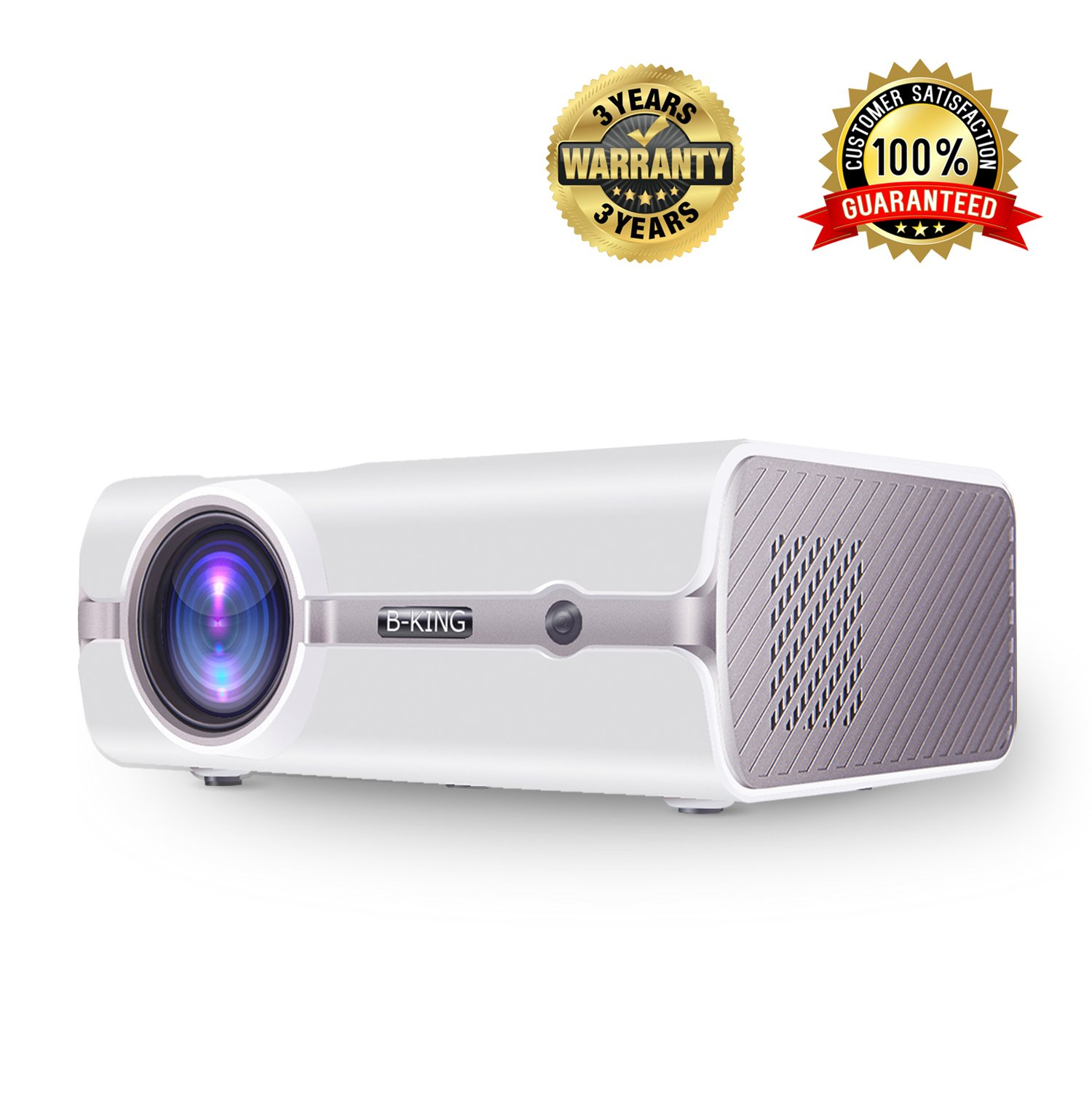 Home Theater Projector 1800 Lumens Multimedia Portable Video Projector 1080P Full HD Support HDMI USB VGA AV Laptop iPhone Andriod Smartphone PS4 Xbox TV Box by BeamerKing
