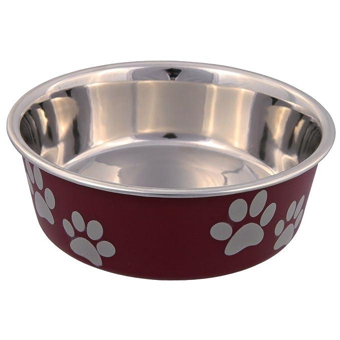 3 opinioni per Trixie- Ciotola in acciaio con rivestimento in plastica per cani, Colori
