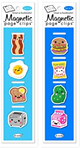 Re-marks Breakfast and Lunch Magnetic Page Clips Includes 2 Styles, 8 Page Clips