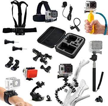 MEGA Pack Accesorios para GoPro Go Pro HD & Hero 1 2 3 4: Amazon ...
