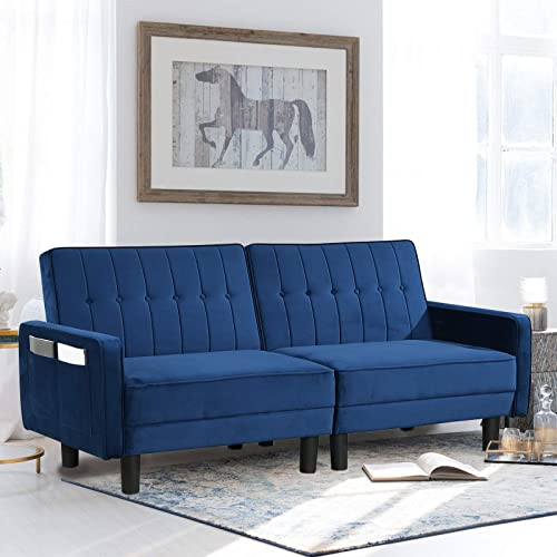 Futon Sofa Bed Upholstered Convertible Sofa Couch Sleeper