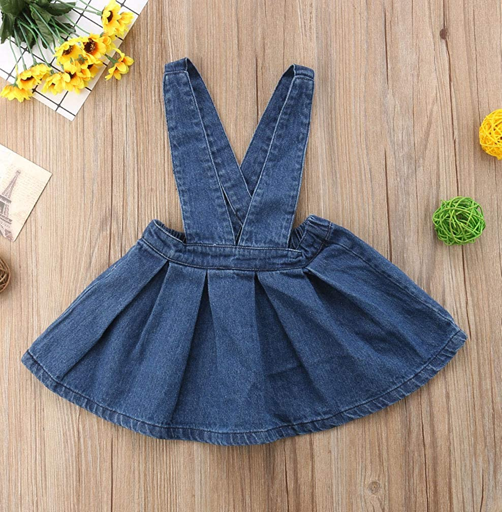22fa7e1acbfb Amazon.com: Specialcal Baby Girls Velvet Suspender Skirt Infant Toddler  Ruffled Casual Strap Sundress Summer Outfit Clothes: Clothing