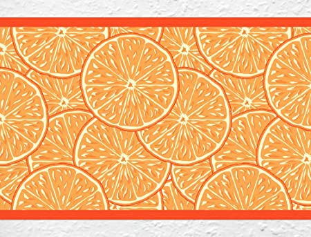 I love wandtattoo b 10094 kitchen wallpaper border orange kitchen fruit decorative