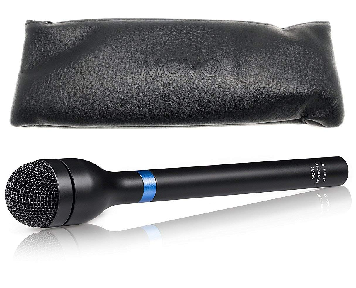 Movo HM-M2 Dynamic Omnidirectional Handheld Interview Microphone with 3-Pin XLR Connector by Movo