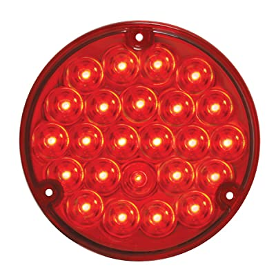 "Grand General 87587BP Pearl Red 4"" 24 LED Sealed Light with Red Lens and Pigtail (#1157): Automotive"
