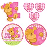 Cutout Decorations, Bears First Birthday, Pink