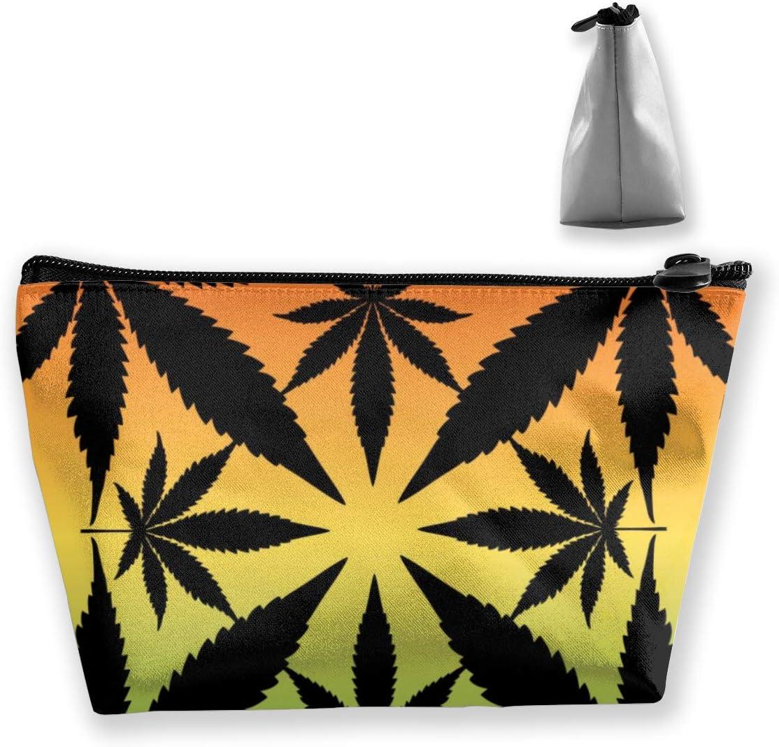 Siluetas de hojas de marihuana en una bolsa de artículos de tocador de viaje portátil colorida Organizador de maquillaje Bolsa de cosméticos Bolsa para mujeres Chica
