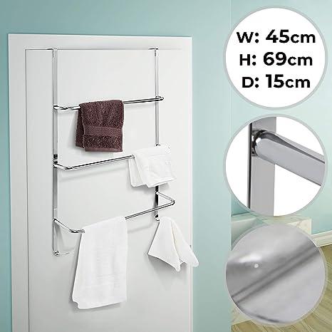 Handtuchhalter Türregal Türhaken Handtuchstange Tür Handtuch Halter Haken Stange