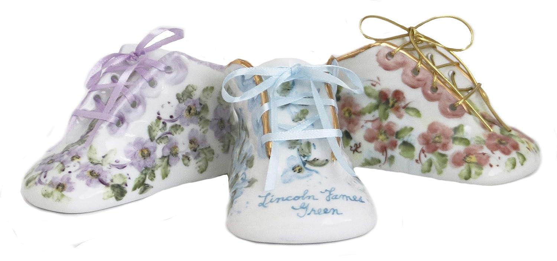 Hand Painted Ceramic Baby Shoe Keepsake