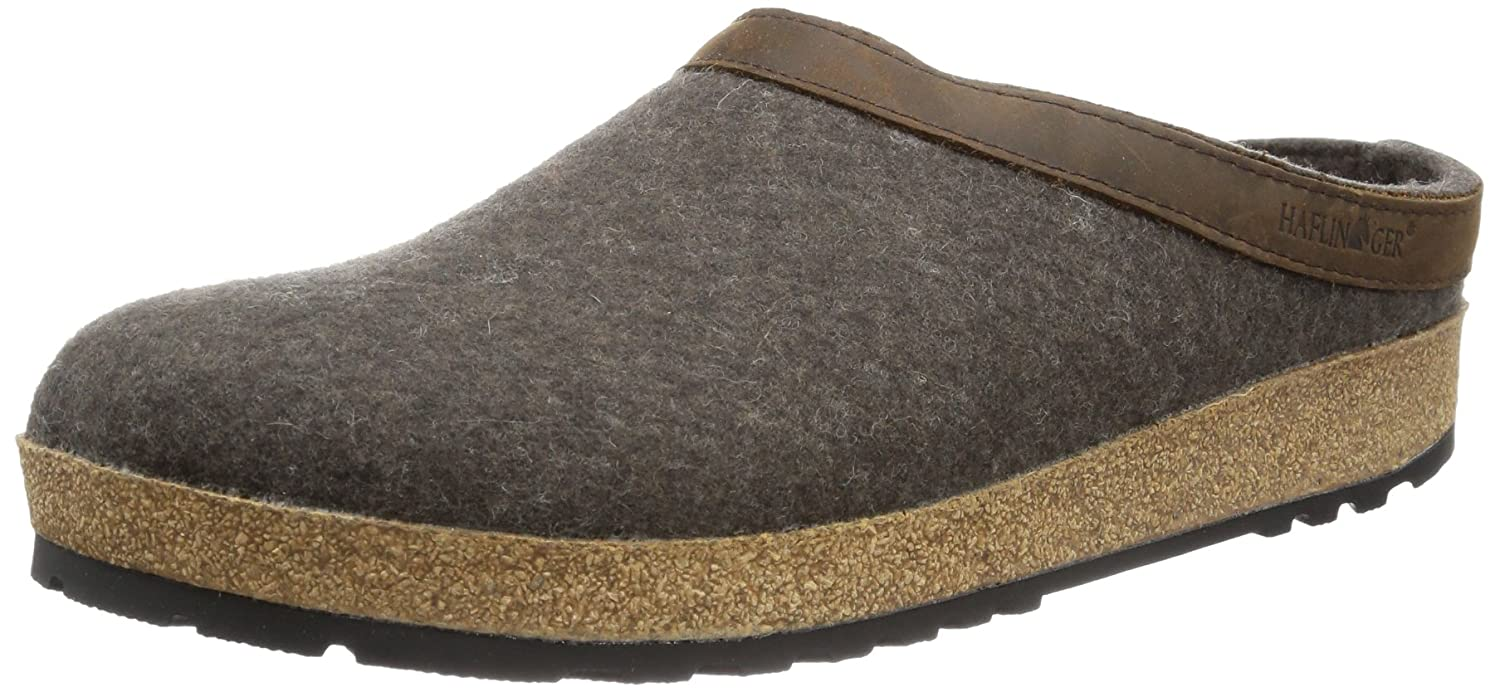 Haflinger Unisex GZL Leather Trim Grizzly Clog GZL44