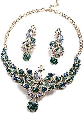 Peacocks in the Garden Necklace Bridesmaid Bride Formal Occasion Jewelry