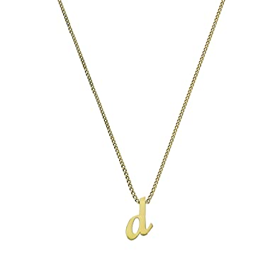Small 9ct Gold Alphabet Letter M Pendant on Chain 16-20 Inches kQsMJj