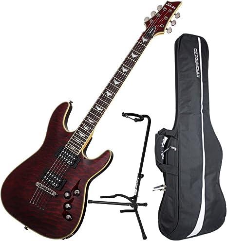 Schecter Omen extreme-6 BCH – Guitarra eléctrica w/funda y soporte ...