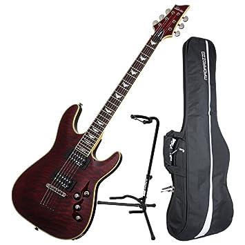Schecter Omen extreme-6 BCH – Guitarra eléctrica w/funda y soporte