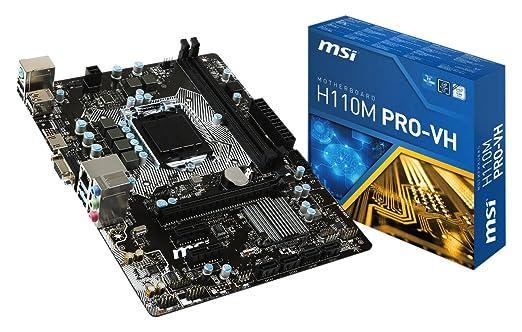 2 opinioni per MSI H110M Pro-VH Scheda Madre Intel 1151, Nero
