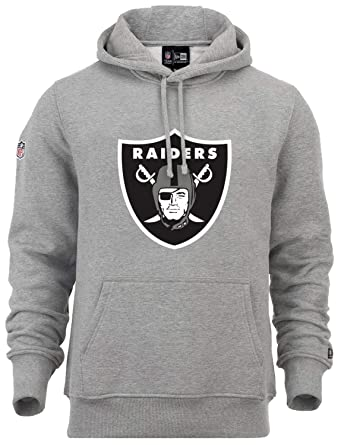 detailing 90d10 638dd New Era - NFL Oakland Raiders Team Logo Hoodie - Grey Farbe Grau