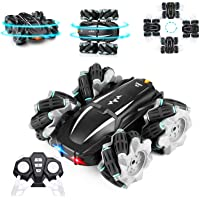RC Car Remote Control Car, Eocean 4WD RC Stunt Car with LED Headlight & 360°Rotating, 2.4GHz High Speed Off Road Drift…