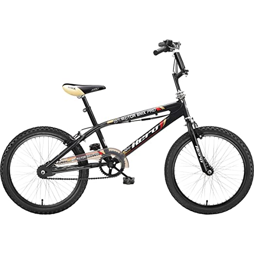 Hero Rotor BMX Pro 20T Single Speed Junior Cycle  Black